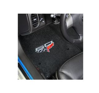 2013E Corvette Lloyd Ultimat Floor Mats w/60th Logo (60th above flags)