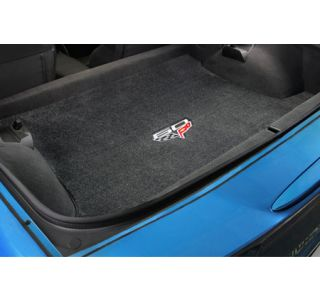 2013 Corvette Coupe Lloyd Velourtex Cargo Mat w/60th Logo (60th above flags)