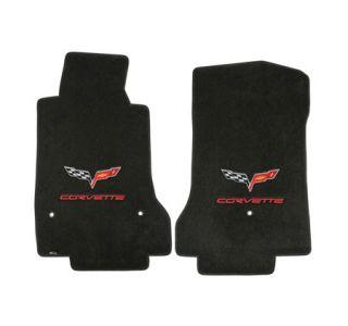 2013L Corvette Lloyd Velourtex Floor Mats w/C6 Emblem & Corvette Script