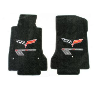 2013L Corvette Lloyd Ultimat Floor Mats w/Red-Silver Grand Sport & C6 Flags