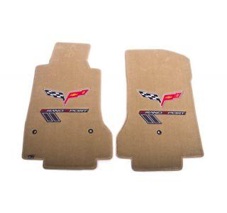 13L Lloyd Velourtex Floor Mats w/C6 Emblem & Grand Sport (Red/Silver Emblem