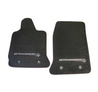 2014-2018 Corvette Stingray GM Front Floor Mats (Black)