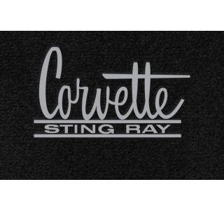 63-67 Lloyd Ultimat Floor Mats w/ Corvette Sting Ray Emblem (66-67 Style) (UltimatFlrMtCol_ScriptColor)