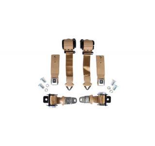 72-73 Coupe & Conv Seat Belt Set w/Shoulder Harness & Seat Belt Warning (Reproduction)
