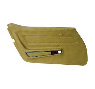 70-76 STD Door Panel (Installed Trim) in Medium Saddle