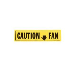 1980-1982 Corvette Fan Shroud Caution Decal