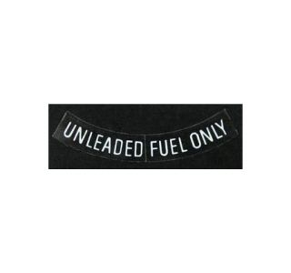 1975-1977 Corvette Unleaded Fuel Only Decal - White