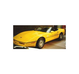 "1986 Corvette Pace Car Decal Set (Gold ""OPC"" w/Gold 70Th)"