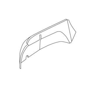 1953-1954 Corvette Inner Fender Skirt