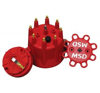 MSD Pro Billet Cap & Rotor Set (Red)
