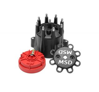 MSD Pro Billet Cap & Rotor Set (Black)