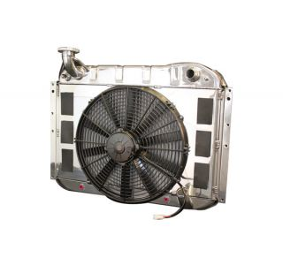 55-60 w/Auto LS Conversion Direct Fit Aluminum Radiator & Fan Combo