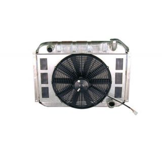 55-60 Direct Fit Aluminum Radiator & Fan Combo w/Auto Trans Cooler