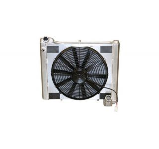 61-62 Direct Fit Aluminum Radiator & Fan Combo w/Auto Cooler
