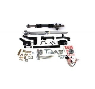 55-57 w/Headers Steeroids Rack & Pinion Kit - Manual (Black Column)