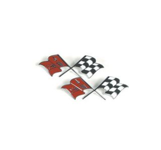 1957-1960 Corvette Side Crossflags (Correct)
