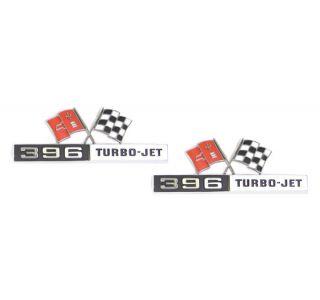"""65 """"396 Turbo Jet"""" Side Emblems"""