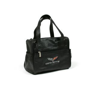 C6 Corvette Embroidered Leather Car Care Kit Bag