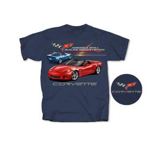 Rocket Ship Grand Sport Corvette T-Shirt (Apparel Sizes)