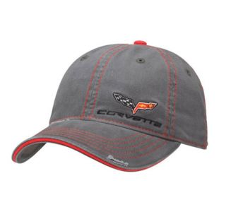 C6 Corvette Gray Wash Twill Cap