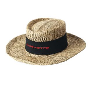 Corvette Straw Hat w/Twill Band (Apparel Color)