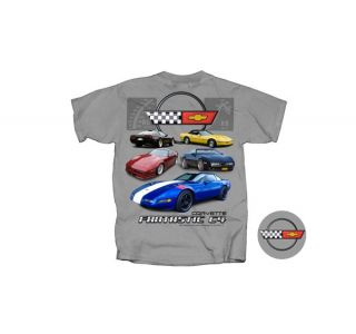 Fantastic C4 Corvette Gray T-Shirt