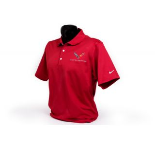 C7 Corvette Emblem Men's Nike Dri-Fit Polo