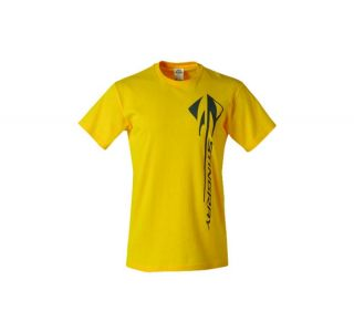 C7 Corvette Stingray Vertical T-Shirt - Yellow