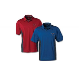 Men's C7 Corvette DryTec Colorblock Polo