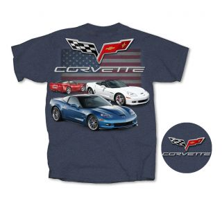 C6 Corvette American Heather Blue T-shirt