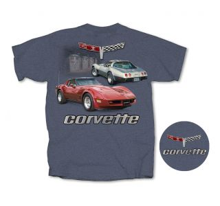 2 Vette Garage Heather Blue T-shirt