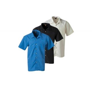 C7 Corvette Men's Tonal Stingray Harriton Barbados Camp Shirt