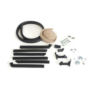 56-57E Convertible Top Deluxe Weatherstrip Kit (Tan Mohair)