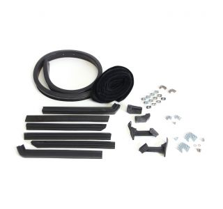 57L-58 Convertible Top Deluxe Weatherstrip Kit (Black Mohair)