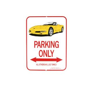 1997-2004 Corvette Yellow Convertible Parking Sign