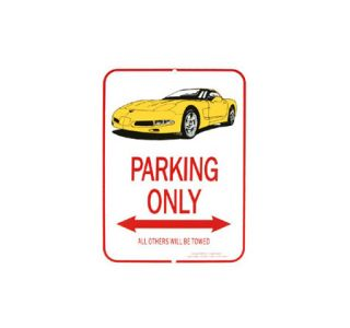1997-2004 Corvette Yellow Coupe Parking Sign