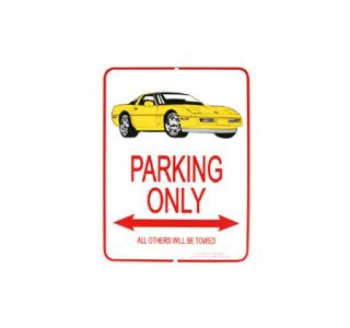1984-1996 Corvette Yellow Coupe Parking Sign