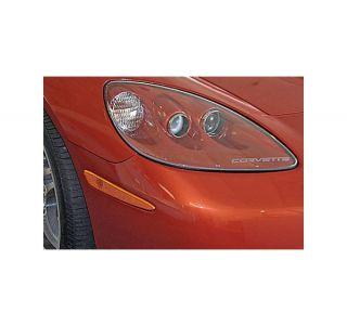 05-13 Headlight Etched Corvette Letters