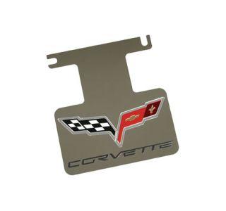 2005-2013 Corvette Rear Enhancement Plate w/Corvette Emblem (Polished)
