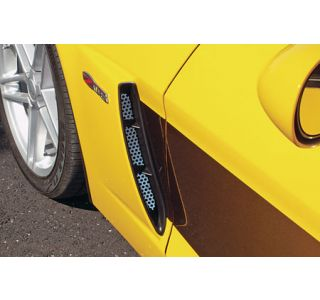 2006-2013 Corvette Z06 Stainless Perforated Side Fender Grill Inserts