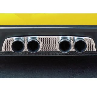 2006-2013 Corvette Z06 & NPP Perforated Stainless Exhaust Filler Panel