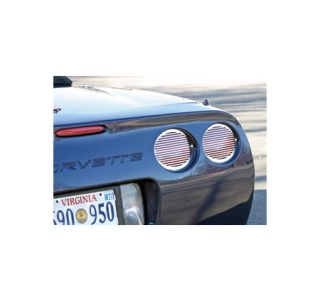 1997-2004 Corvette 4pc Polished Stainless Tail Light Grills