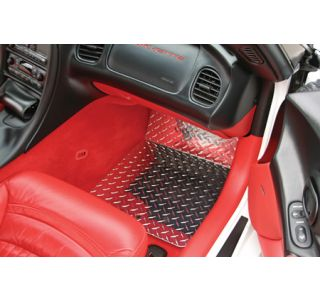 1997-2004 Corvette Diamond Plate Aluminum Floor Mats