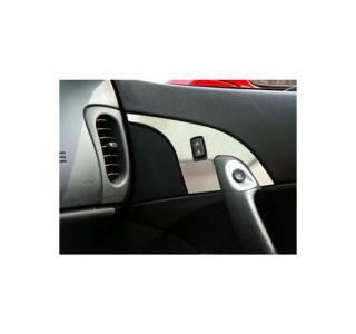 2005-2013 Corvette Stainless Door Lock Trim Plates-w/o Seat Memory