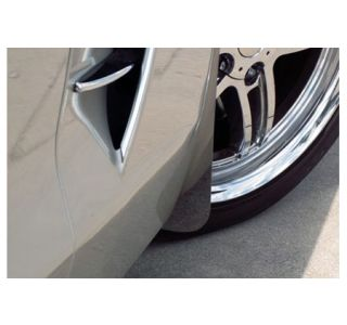 "2005-2013 Corvette Front Stainless ""Z06 Style"" Mud Guards"