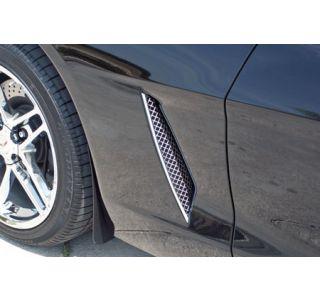 2005-2013 Corvette Laser Mesh Stainless Side Fender Grills