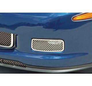 2006-2013 Corvette Z06/GS Laser Mesh Stainless Driving Light Covers