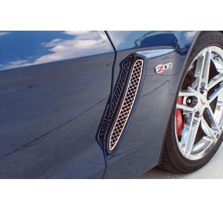 2006-2013 Corvette Z06 Laser Mesh Stainless Side Fender Grills