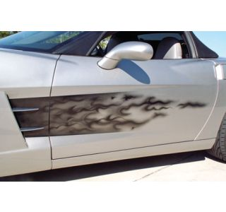 2005-2013 Corvette Black Flame Sport Fade Side Graphic