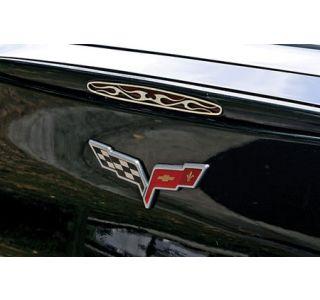 2005-2013 Corvette Flamed Stainless 5th Brake Light Grill